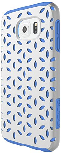 Samsung Galaxy S6 Case, Incipio [Patterned Shock Absorbing] DualPro Detail Case for Samsung Galaxy S6-Silver/Periwinkle