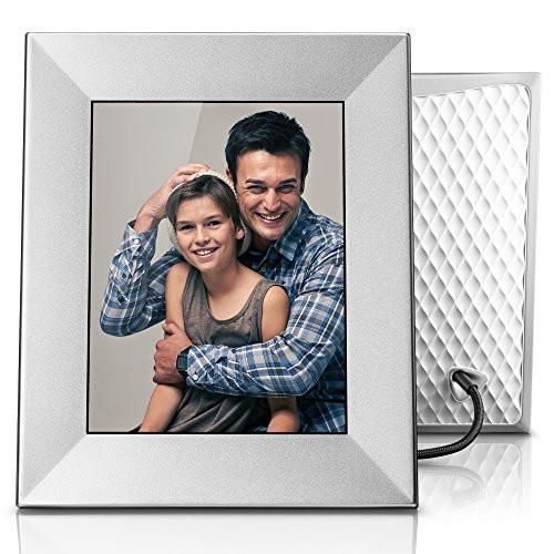 """Nixplay Iris 8"""" Wi-Fi Cloud Frame (W08E- Silver)"""
