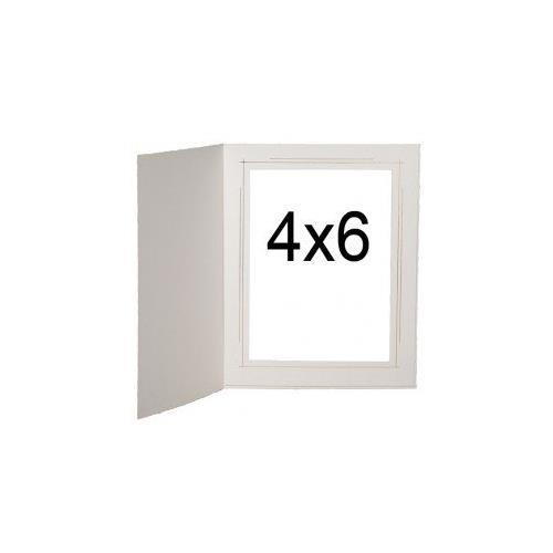 Tap photo frames Whitehouse 4x6 White/Gold (100 pack)