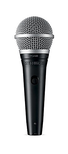 Shure PGA48-LC Cardioid Dynamic Vocal Microphone with No Cable