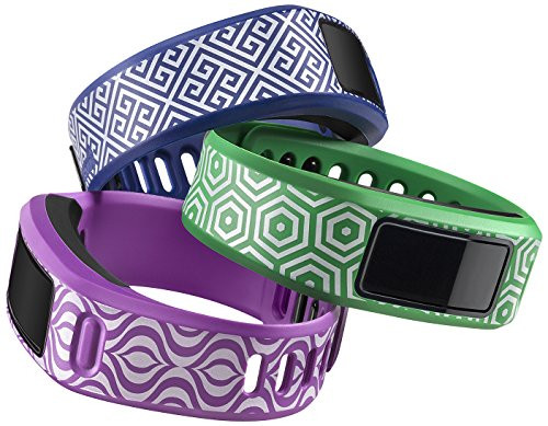 Garmin vívofit Style Collection Wrist Bands (Small) (Green/Blue/Purple)
