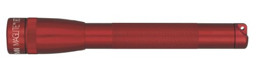 Maglite Mini LED 2-Cell AA Flashlight with Holster, Red (153-000-071)