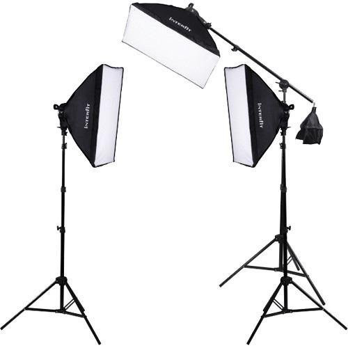 Interfit F5 3-Head Continuous Fluorescent 5600K Daylight Lighting Kit