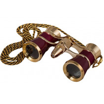 Levenhuk Broadway 325F Opera Glasses (red, with LED light and chain)     (0611901509662)
