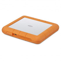 LaCie Rugged Raid Shuttle 8TB External Hard Drive Portable HDD - USB-C USB 3.0 Compatible, Drop Shock Dust Water Resistant, (STHT8000800)