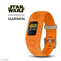 Garmin vívofit Jr 2, Kids Fitness/Activity Tracker, 1-Year Battery Life, Adjustable Band, Star Wars Light Side, Bright Orange