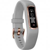 Garmin vívosmart 4, Activity and Fitness Tracker w/ Pulse Ox and Heart Rate Monitor, Rose Gold w/ Gray Band