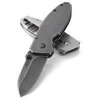 Columbia River Knife and Tool 2490KS Squid Black Stonewash Plain Edge Pocket Knife