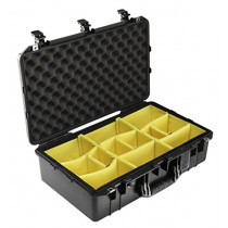 Pelican 1555 Air Lightweight Watertight Case with Padded Dividers, Black