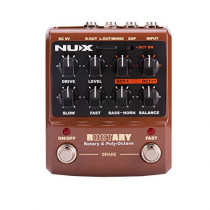 NUX Roctary force guitar effects pedal Rotary Speaker Simulator and cabinet polyphonic Octave effect 2 in 1   885947102143