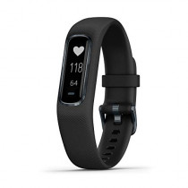 Garmin vívosmart 4, Activity and Fitness Tracker w/Pulse Ox and Heart Rate Monitor, Midnight w/Black Band, Large