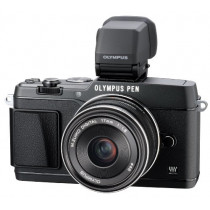 Olympus E-P5 17mm f1.8 and VF-4 16.1 MP Compact System Camera with 3-Inch LCD...