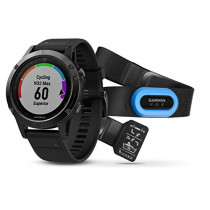 Garmin Fenix 5 Sapphire Performer Bundle - Black with Black Band