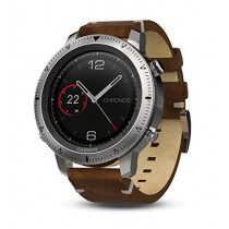 Garmin Fenix Chronos, Steel with Vintage Leather Watch Band