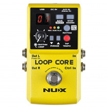 Nux Loop Core Guitar Effect Pedal Looper 6 Hours Recording Time, 99 User Memories, Drum Patterns with Tap Tempo  885947101436