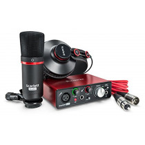 Focusrite Scarlett Solo Studio (2nd Gen) USB Audio Interface and Recording Bundle with Pro Tools | First (815301008477)