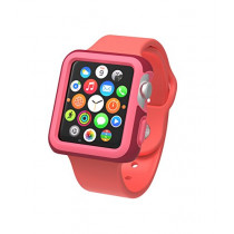 Speck Products CandyShell Fit Case for Apple Watch 38mm, Crimson Red/Splash Pink