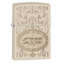 Zippo American Classic Pocket Lighter, Cream Matte