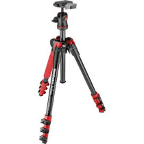 Manfrotto BeFree Compact Travel Aluminum Alloy Tripod -Red