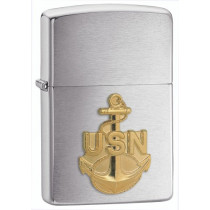 Zippo Navy Anchor Emblem Pocket Lighter