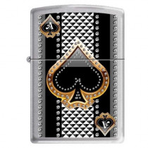 "Zippo ""Ace of Spades"" Brushed Chrome Lighter, 7951 (041689382858)"