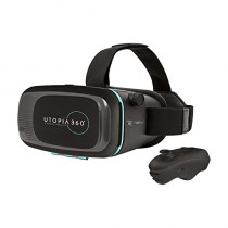 Emerge Tech EUVRC Utopia 360Degree Virtual Realty Headset with Bluetooth Controller, Black
