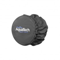 Aqua Tech SS-Cap Sport Shield Cap, Drawstring Closure, Gray