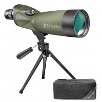 BARSKA Blackhawk 18-36x50 Straight Spotting Scope with Tripod and Case (Green)