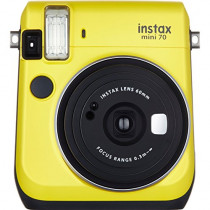 Fujifilm 16496122 INSTAX MINI 70 CANARY YELLOW HIGHER QUALITY IMAGES SELFIE MODE