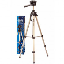 "VidPro Heavy-Duty 76"" Aluminum Tripod with 3-Way Pan & Tilt Head and Case (TT-76)"