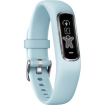 Garmin vívosmart 4, Activity and Fitness Tracker w/Pulse Ox and Heart Rate Monitor, Silver w/Azure Blue Band