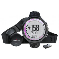 Suunto M5 Heart Rate Monitor With Movestick - Women's Black/Silver/Pink with Movestick, One Size