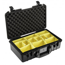 Pelican 1525 Air Lightweight Watertight Case with Padded Dividers, Black