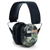 Walkers Game Ear Ultimate Power Muff Quads with AFT/Electric, Mossy Oak Camo