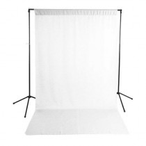 Savage Economy Background Support Stand with 5x9' White/Black Backdrop, 20lbs Load Capacity