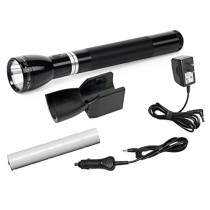 Maglite RL1019 LED Rechargeable Flashlight System with 120V Converter & 12V DC Auto Adapter, Black