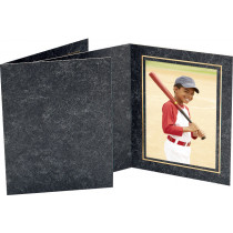 TAP Budget Folder AVANTI Top Loading for 8x10 Prints -Black Marble/Gold- (100 Pack)