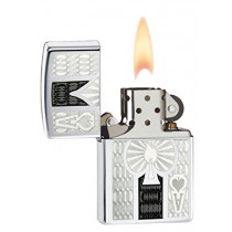 Zippo Ace High Polish Chrome Lighter