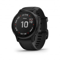 Garmin Fenix 6S Pro, Premium Multisport GPS Watch,  - Black with Black Band - (010-02159-13)