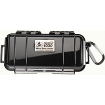 Pelican 1030 Micro Watertight Dry Box, 7.50x3.87x2.43in - Solid Black