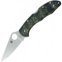 Spyderco DELICA ZOME C11ZFPGR Green Folding Blade Knife