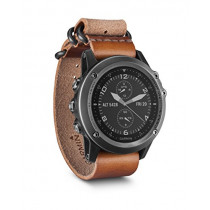 Garmin Fenix 3 Sapphire, Gray with Leather Strap