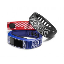 Garmin vívofit 2 Style Collection Wrist Bands (Small) (Blue/Slate/Red)