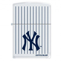 "Zippo ""New York Yankees"" Logo Lighter, White Matte, 0403 (041689376468)"
