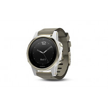 Garmin Fenix 5S Sapphire - Champagne with Gray Suede Band