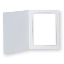TAP PHOTO FRAMES WHITEHOUSE 5X7 WHITE/GOLD (100 PACK)