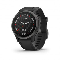 Garmin Fenix 6S Sapphire, Premium Multisport GPS Watch, - Carbon Gray DLC with Black Band -  (010-02159-24)