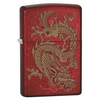 Zippo Lighter: Golden Dragon - Candy Apple Red 79095 (041689678357)