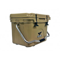 ORCA ORCT020 Cooler with Single Flex-Grip Stainless Steel Handle for Simple Solo Portage, 20 quart, Tan
