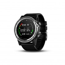 "Garmin 010-01760-00 Descent Mk1, 1.2"", Silver with Black Band"